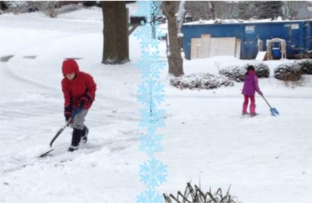 kids shoveling 2015